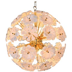 Murano Glass Lotus Sputnik Chandelier, Italy, 1970