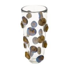 Murano Glass Medallion Vase