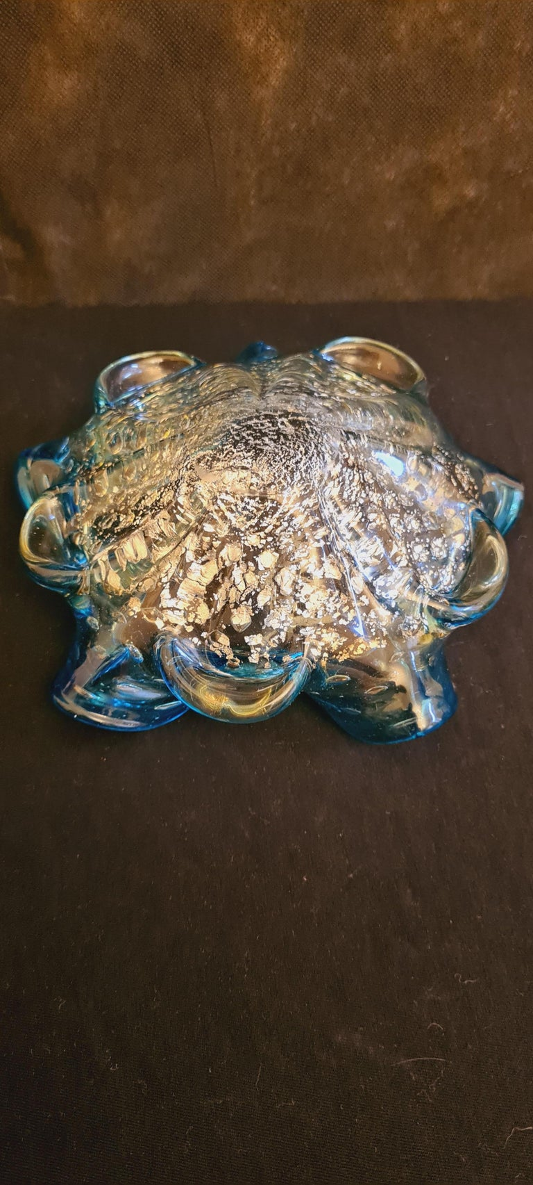 Murano Glass Mid-Century Bowls with Gold and Silver Leaf For Sale 3