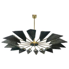 Murano Glass Midcentury Chandelier, 1980