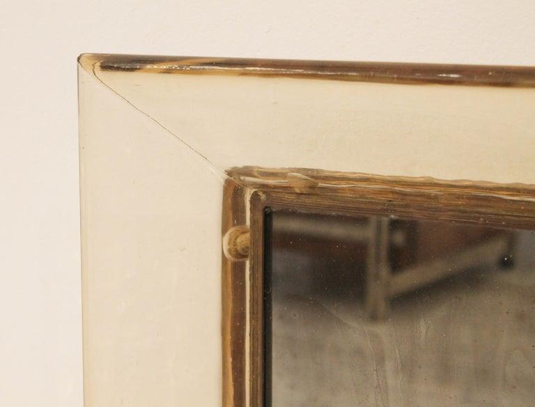 Italian Murano Glass Mirror by Carlo Scarpa for Venini, Italy, 1930s For Sale