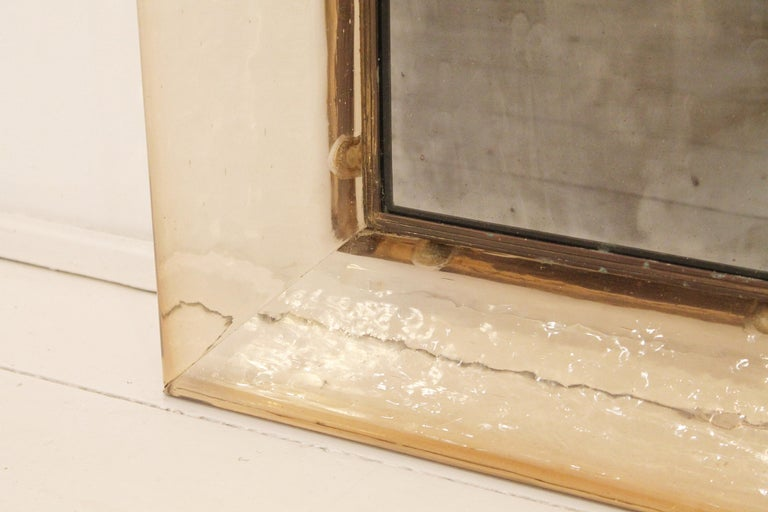 Murano Glass Mirror by Carlo Scarpa for Venini, Italy, 1930s In Good Condition For Sale In Brussels, BE
