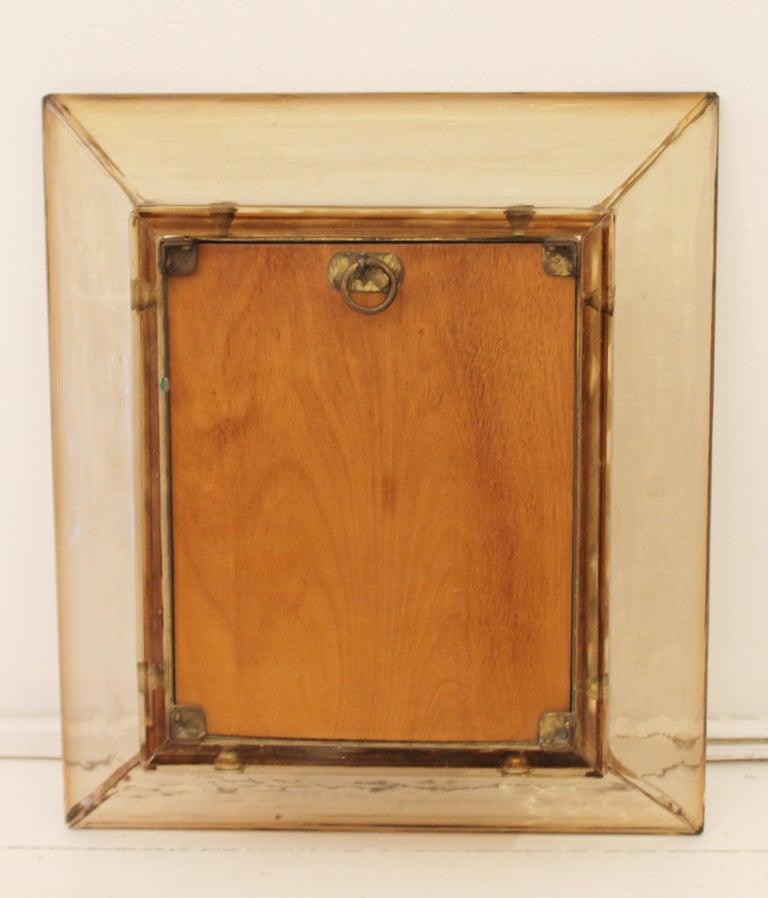 Mid-20th Century Murano Glass Mirror by Carlo Scarpa for Venini, Italy, 1930s For Sale