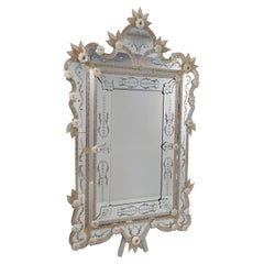 Murano Glass Mirror in Luxurious Ventian Style, in Gold Color by Fratelli Tosi