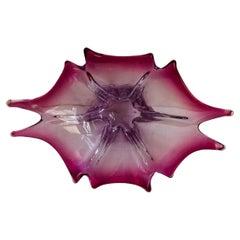 Murano Glass Neodymium Alexandrite Somerso Bowl