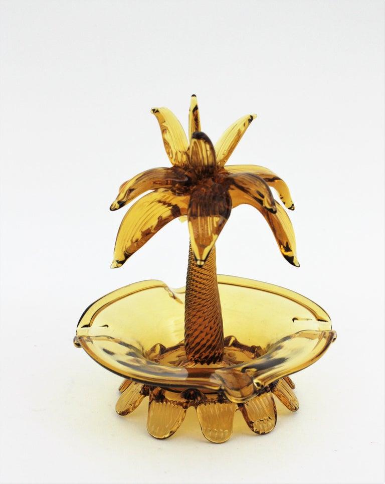 Italian Murano Glass Palm Tree Ashtray or Bowl, Italy, 1960s For Sale