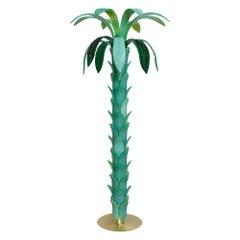 Murano Glass Palm Tree Floor Lamp