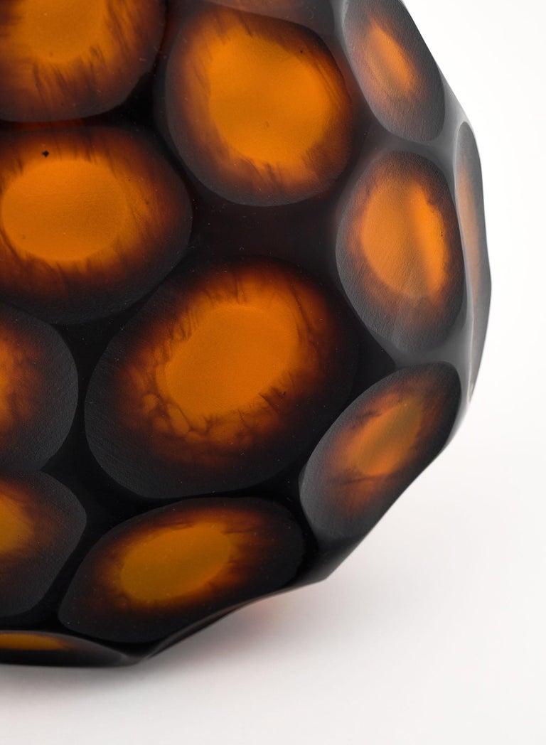 "Murano Glass ""Pavone"" Vase For Sale 1"