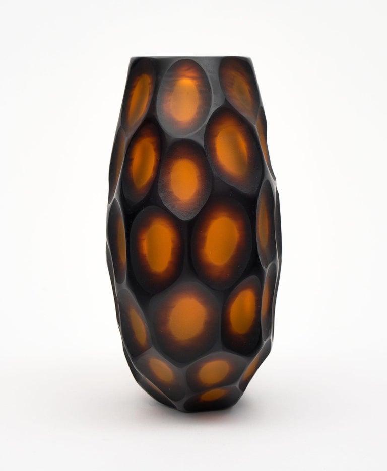 "Murano Glass ""Pavone"" Vase For Sale 2"