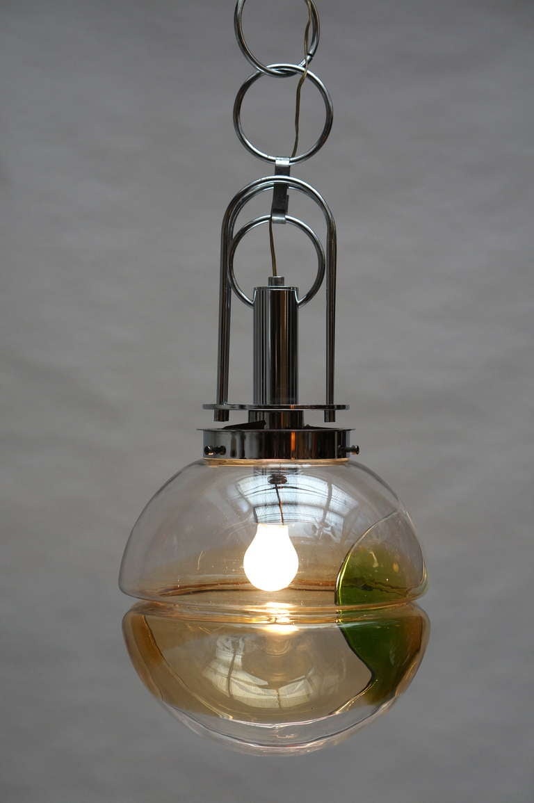 Italian Murano Glass Pendant Light, Italy For Sale