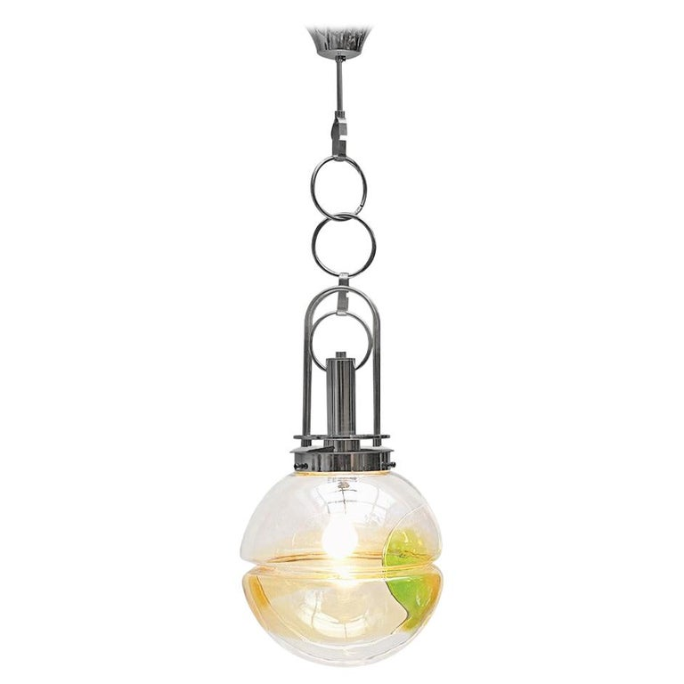 Murano Glass Pendant Light, Italy For Sale