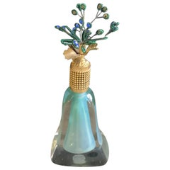 Murano Glass Perfume Bottle with Top by Irice