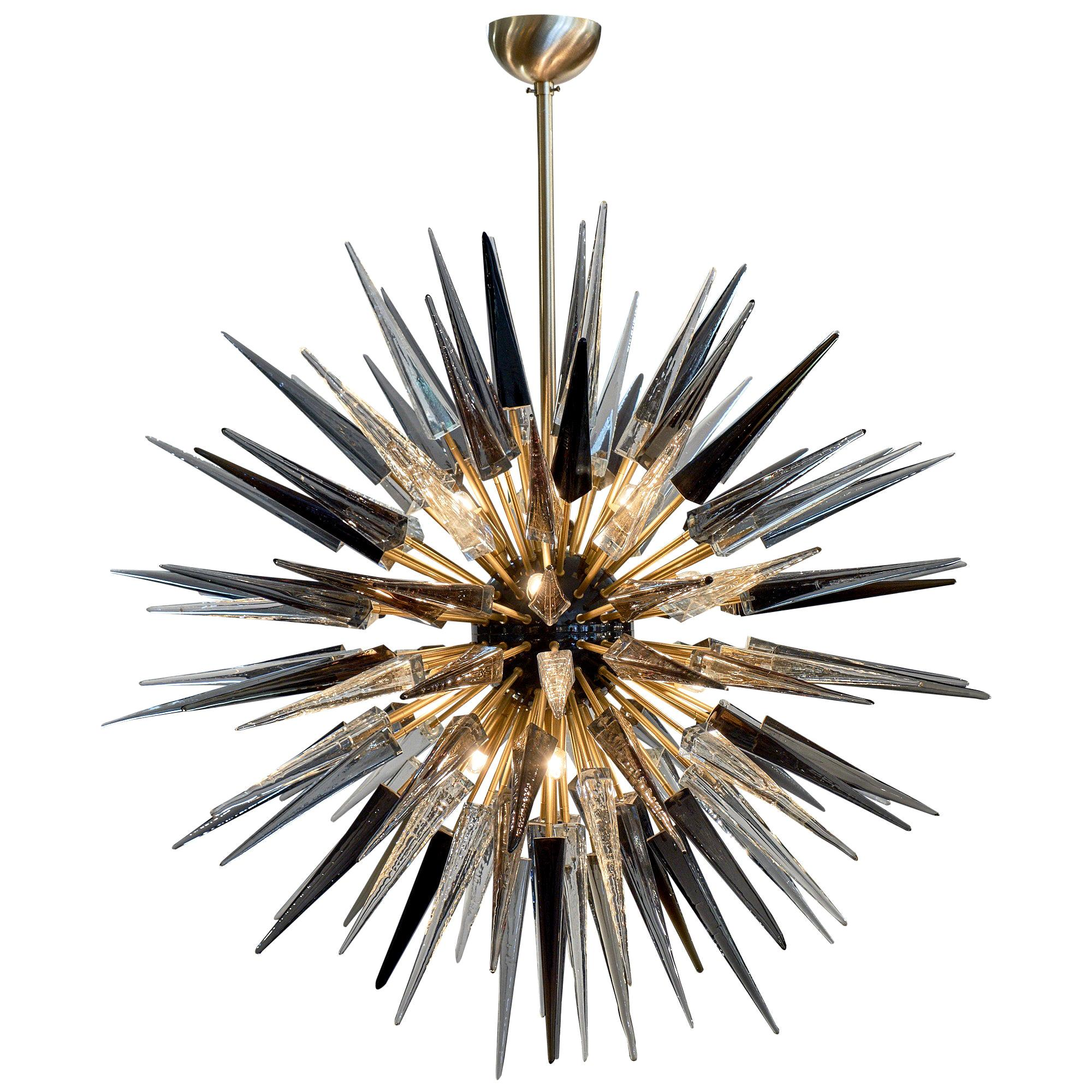 Murano Glass Prism Sputnik Chandelier