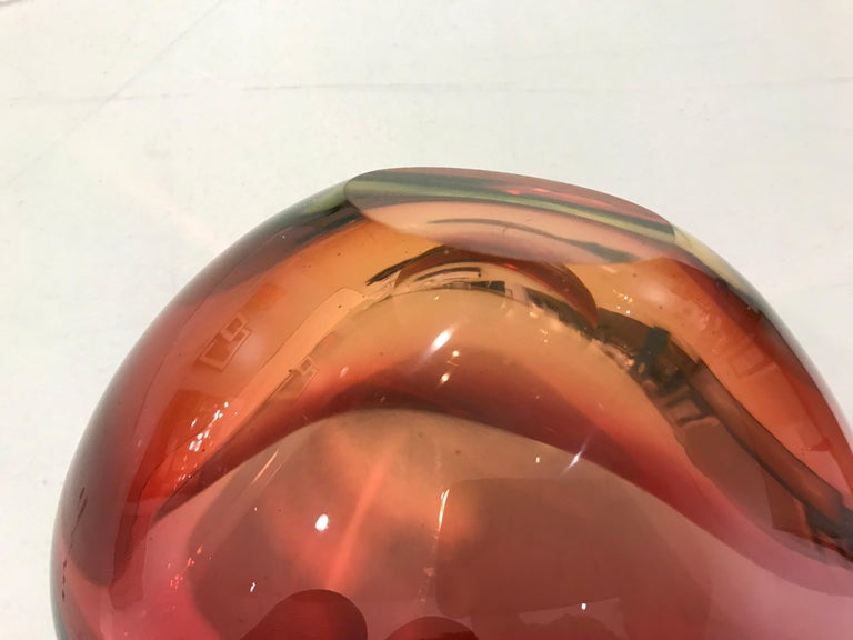 Murano Glass Red Pear Shaped Bowl For Sale 4