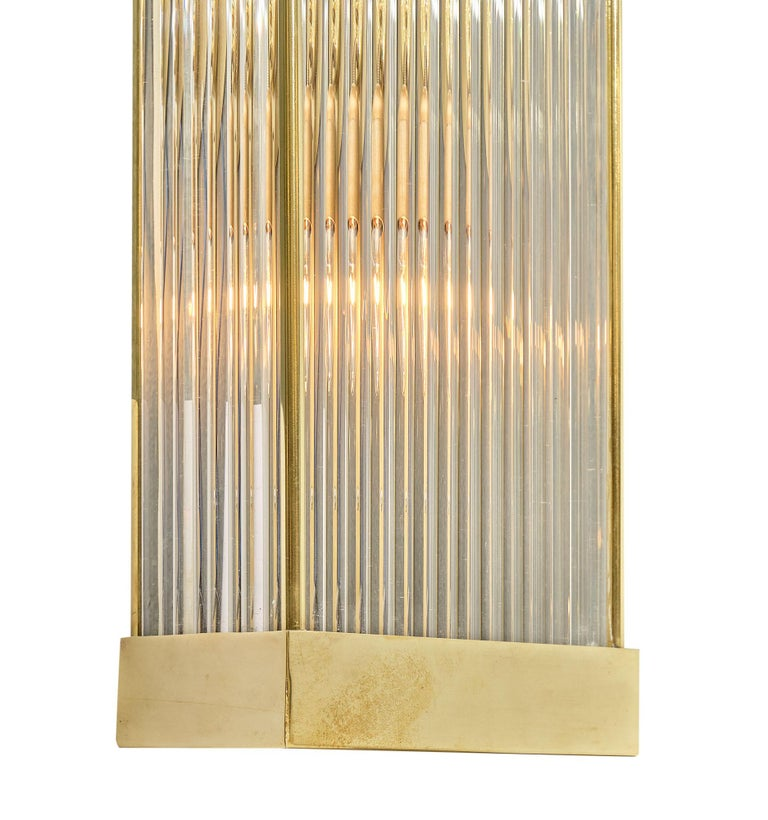 Modern Murano Glass Rod Sconces For Sale