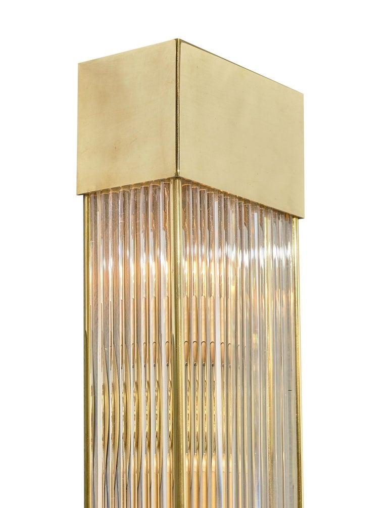 Italian Murano Glass Rod Sconces For Sale