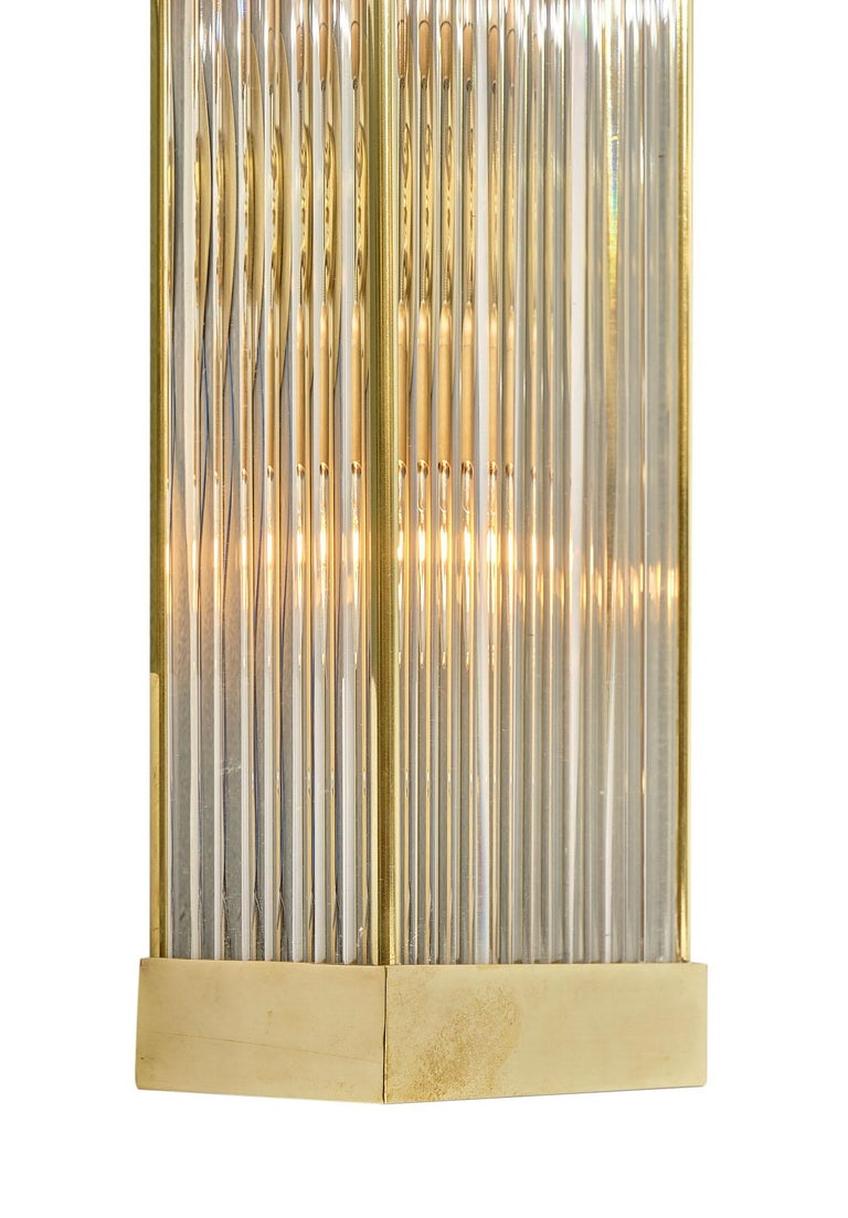 Murano Glass Rod Sconces In Good Condition For Sale In Austin, TX