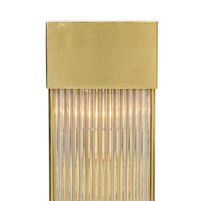 Brass Murano Glass Rod Sconces For Sale