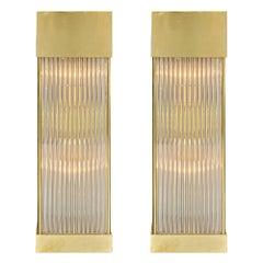 Murano Glass Rod Sconces