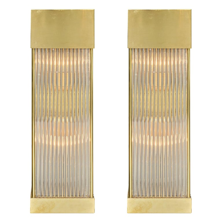 Murano Glass Rod Sconces For Sale