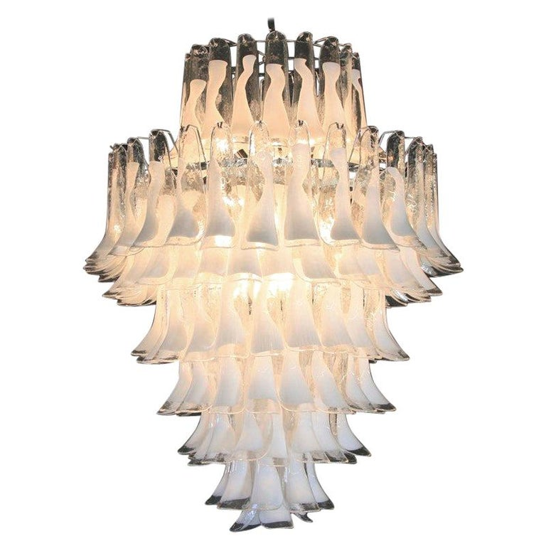 Murano Glass Saddle form Chandelier For Sale