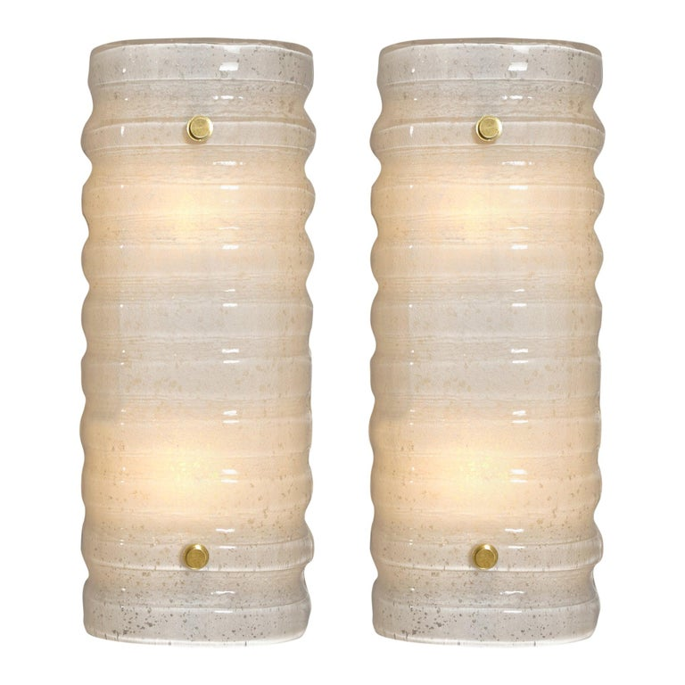 "Murano Glass ""Scavo"" Sconces For Sale"