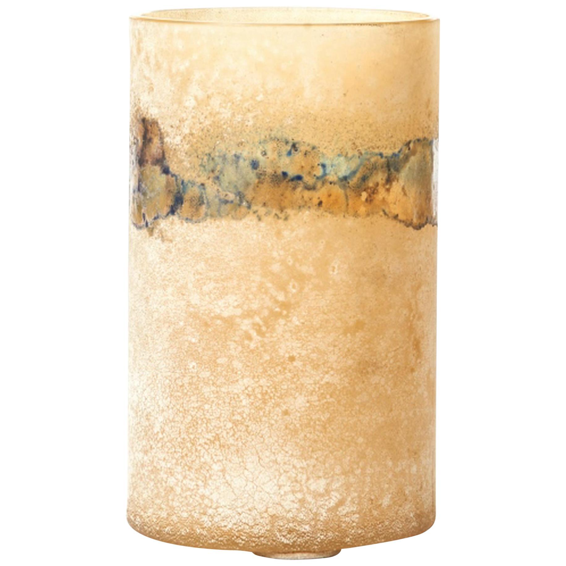 "Murano Glass ""Scavo"" Vase by Alfredo Barbini for Cenedese"