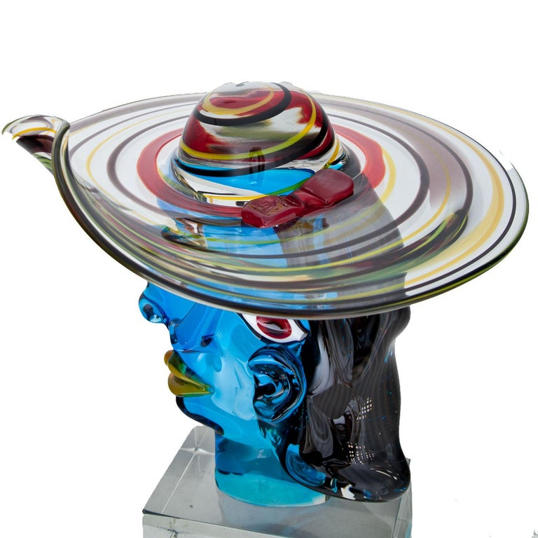 Murano Glass Sculpture 'Omaggio a Picasso' by Walter Furlan 4