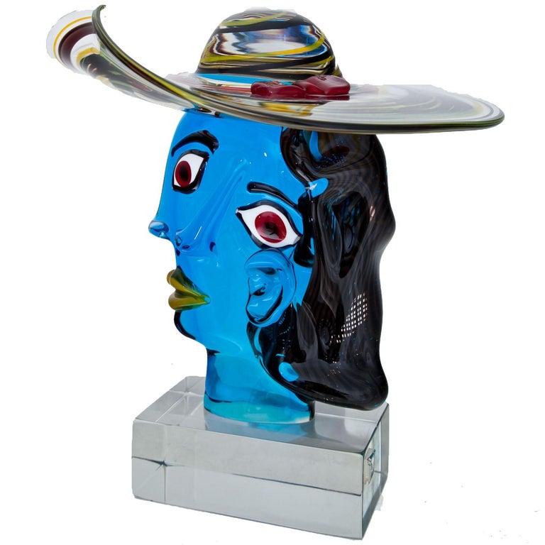 Murano Glass Sculpture 'Omaggio a Picasso' by Walter Furlan 5