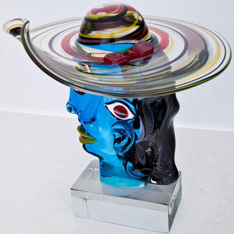 Murano Glass Sculpture 'Omaggio a Picasso' by Walter Furlan 6