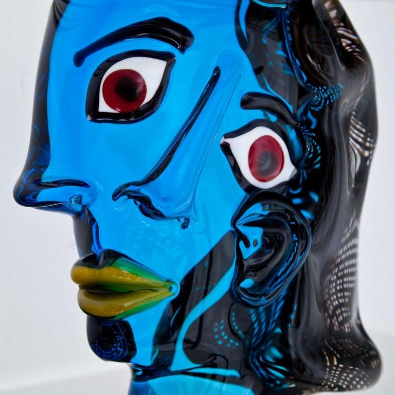 Modern Murano Glass Sculpture 'Omaggio a Picasso' by Walter Furlan