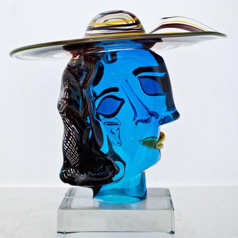 Murano Glass Sculpture 'Omaggio a Picasso' by Walter Furlan In Excellent Condition In Greding, DE