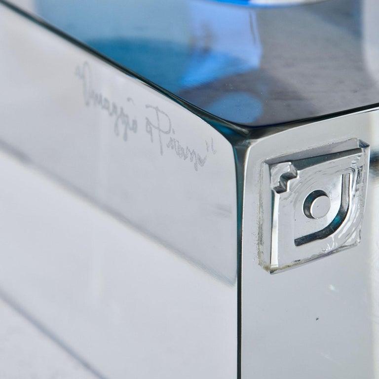 Murano Glass Sculpture 'Omaggio a Picasso' by Walter Furlan 1