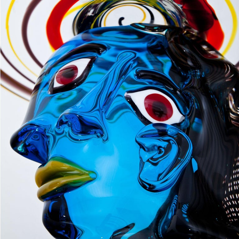 Murano Glass Sculpture 'Omaggio a Picasso' by Walter Furlan 3