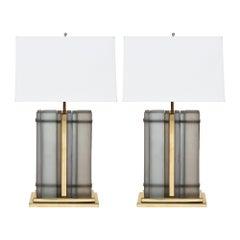 Murano Glass Slab Lamps