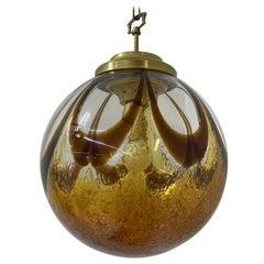 Murano Glass Sphere Chandelier in the Style of Mazzega, circa 1970