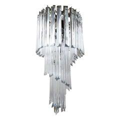 Murano Glass Spiral Chandelier-Venini Style