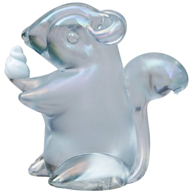 Murano Glass Squirrel by Seguso For Sale