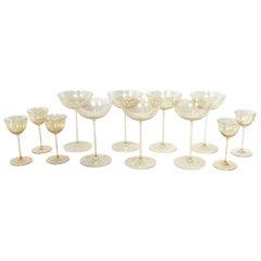 Murano Glass Stemware Attributed to Barovier
