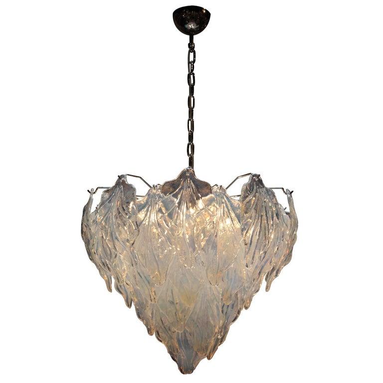 Murano Glass Suspension Lamp. Italy, 1960.