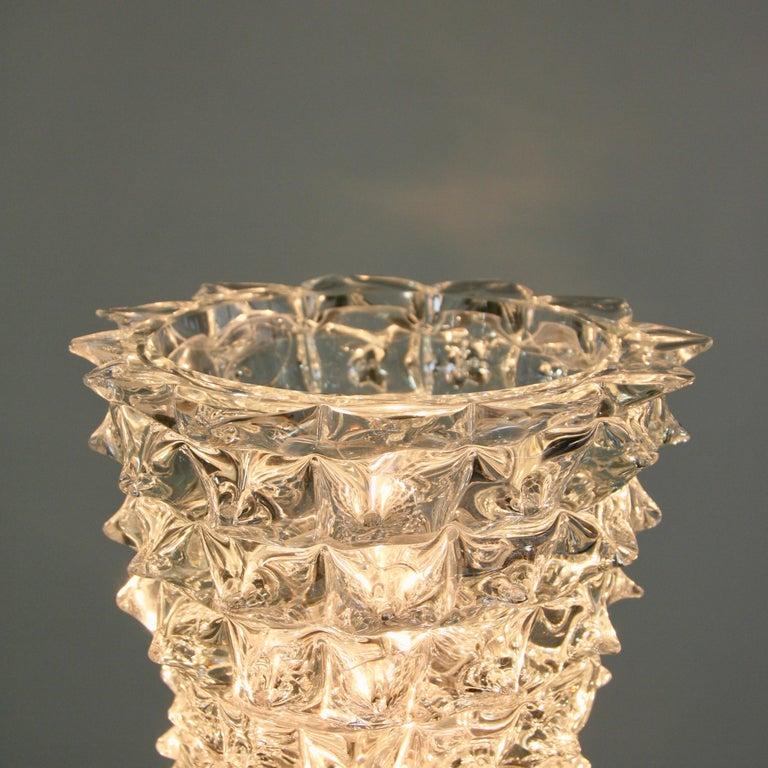 Italian Murano Glass Table Lamo, Italy, Clear Spikes For Sale