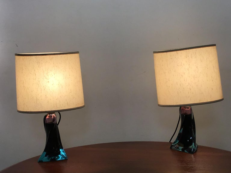 Murano Glass Table Lamp, 1960s In Good Condition In London, Lambeth