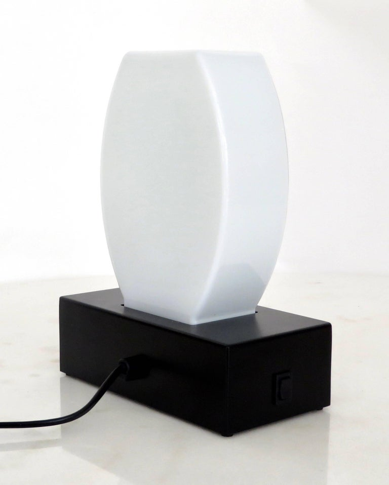 Late 20th Century Murano Glass Table Lamp Dorane by Ettore Sottsass for Stilnovo For Sale