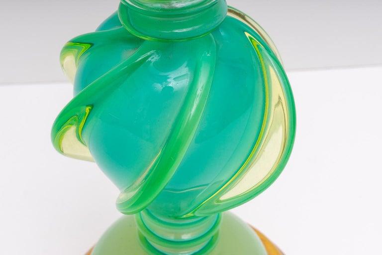 20th Century Murano Uranium Glass Lamp