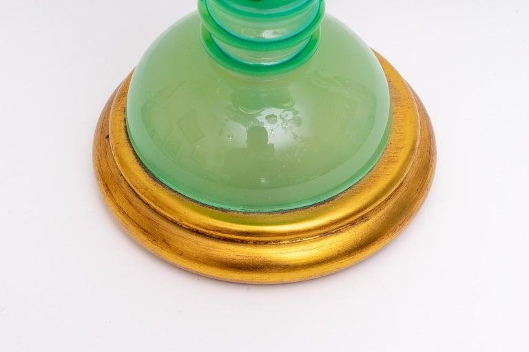 Murano Glass Murano Uranium Glass Lamp