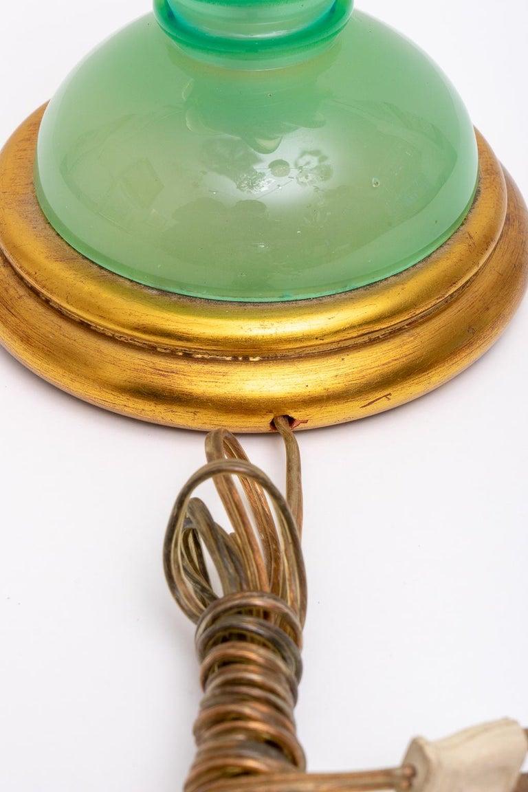 Murano Uranium Glass Lamp 1