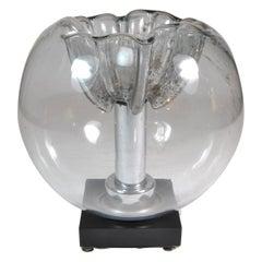 Murano Glass Table Lamp Mazzega, Italy, 1970