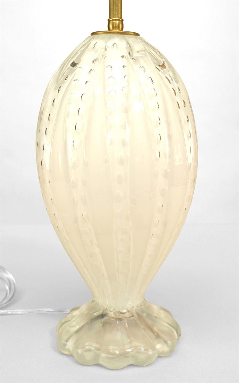 Mid-Century Modern Murano Glass Table Lamps For Sale