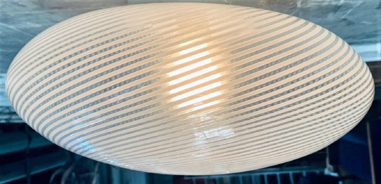 Venini Pendant Murano Glass Brass, Italy, 1960s For Sale 3