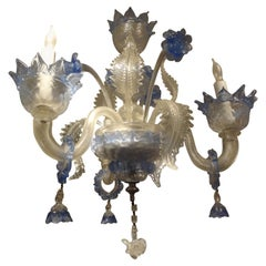 Murano Glass Three Light Chandelier